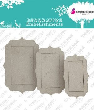 Designer frame for scrapbooking