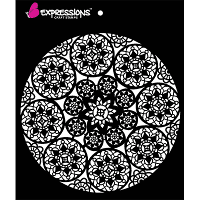 Doily lace craft stencils
