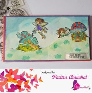 Fairy card using Expressions stamps