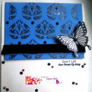 Shadow Box card using expressions clear stamps