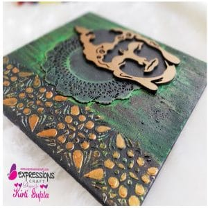 Buddha Canvas using   Chipboard
