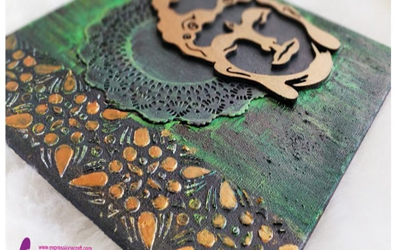 Buddha canvas chipboard