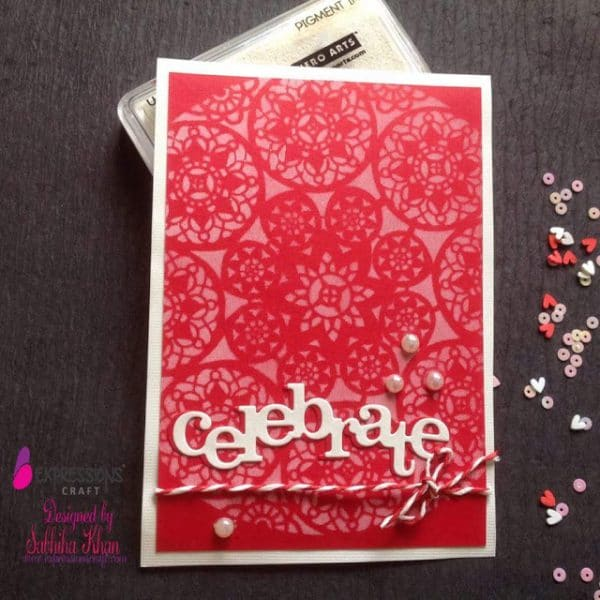Doily lace Stencil cards