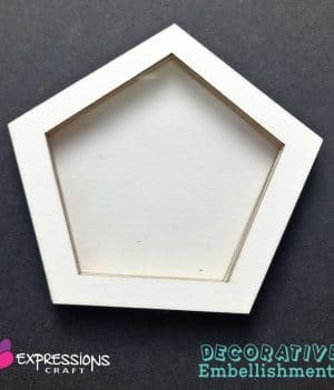 Shaker-Pentagon chipboard embellishments