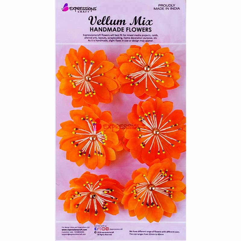 Vellum Paper Handmade Flowers Online For Mixed Media Expressions Craft