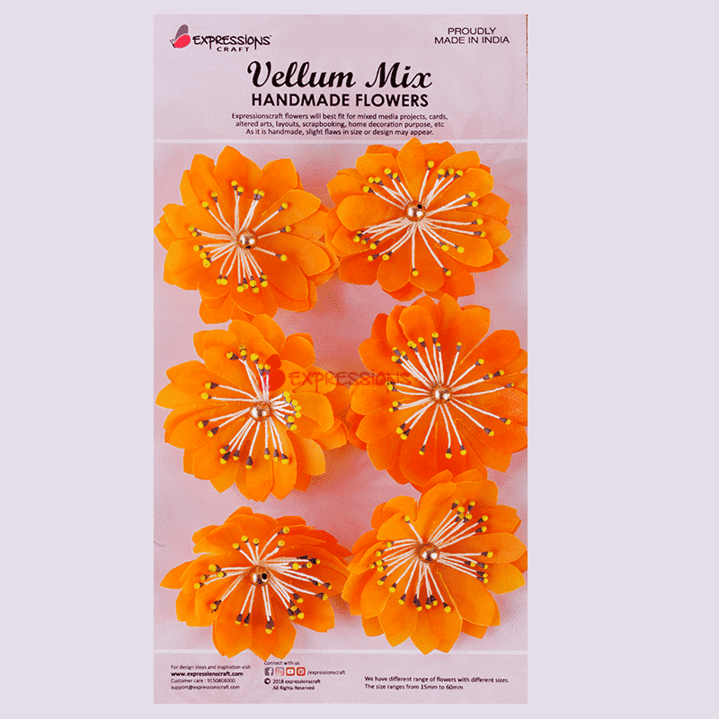 Vellum paper handmade flowers online for mixed media expressions craft vellum handmade paper flower mightylinksfo