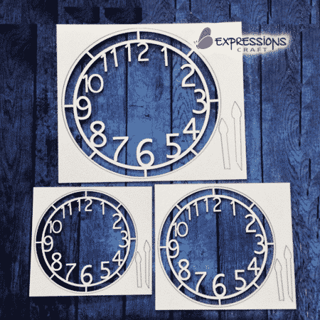clock chipboard cutouts