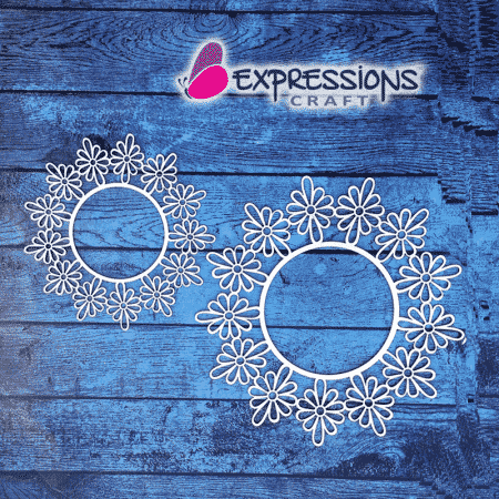 Elegant Ornamental flower circle Frames chipboard cutouts