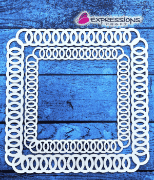 Ring of Chain Border chipboard cutouts