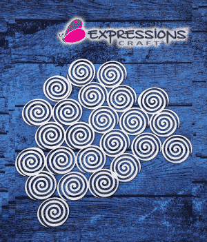 Spiral Background Chipboard cutouts