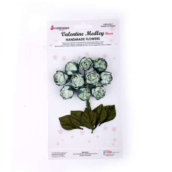 Mini cabbage roses pale green 175