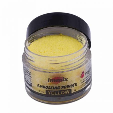 yellow embossing powder