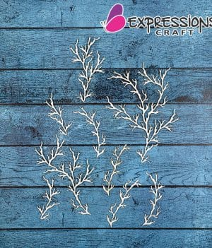chipboard tree branch embellishments