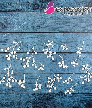 berry branch chipboard cutouts