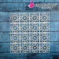floral tile chipboard