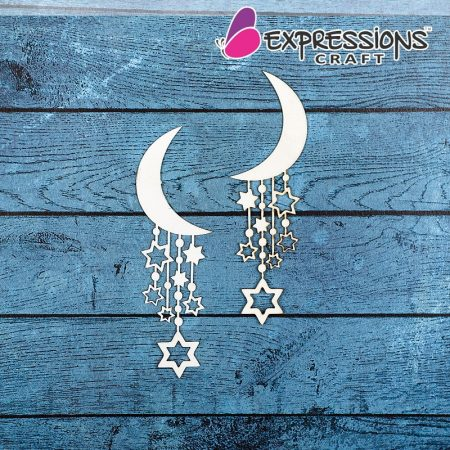 crescent star hangings chipboard online