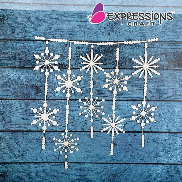 snow flakes dangler for craft