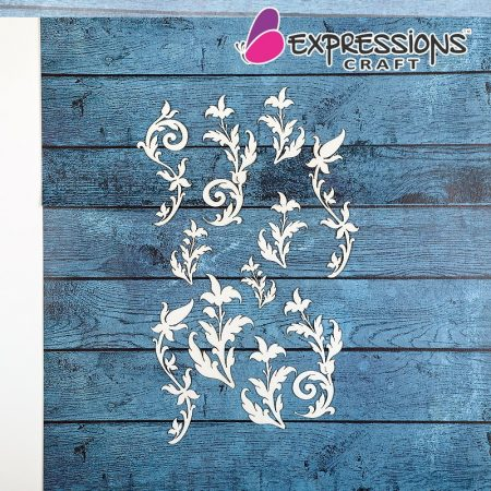 vintage flourish chipboard cutouts