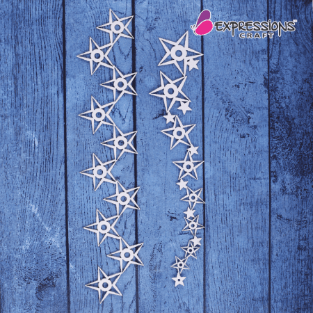 STAR CHIPBOARD EMBELLISHMENTS